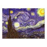 Pintura de la noche estrellada del artista Vincent Anuncio