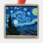 Pintura de la noche estrellada del pintor Vincent  Ornamentos De Reyes