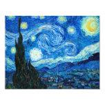 Pintura de la noche estrellada del pintor Vincent Anuncio Personalizado