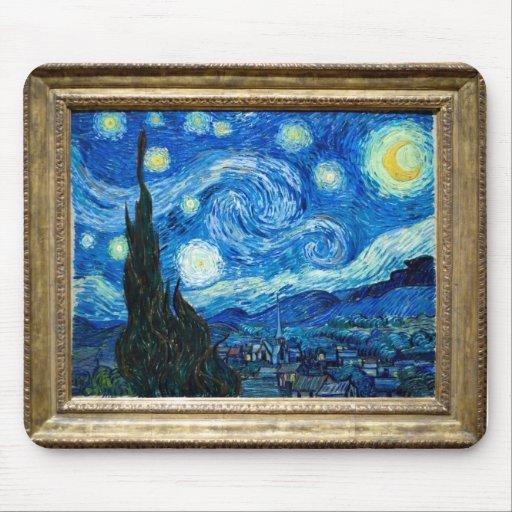 Pintura de la noche estrellada del pintor Vincent Mousepad