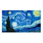 Pintura de la noche estrellada del pintor Vincent  Plantillas De Tarjeta De Negocio