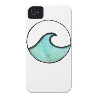 Pintura de la onda de Boho Case-Mate iPhone 4 Cárcasas