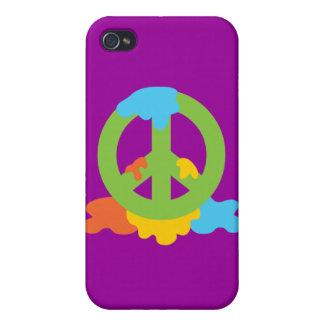Pintura de la paz iPhone 4 cárcasas