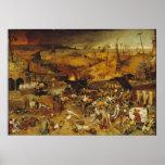 Pintura de la plaga 1562 póster