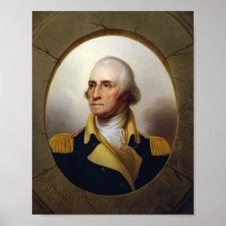Pintura de la porta de general George Washington Póster