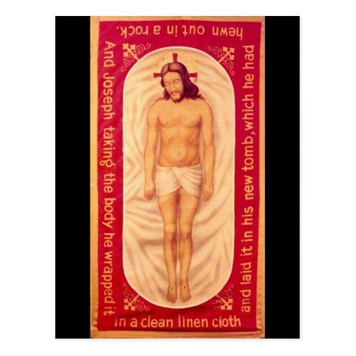 Pintura de la postal de Cristo