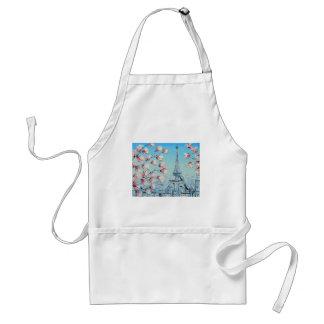 pintura de la primavera del ris, flores de cerezo delantal