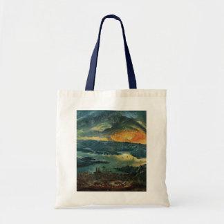 Pintura de la puesta del sol bolsas