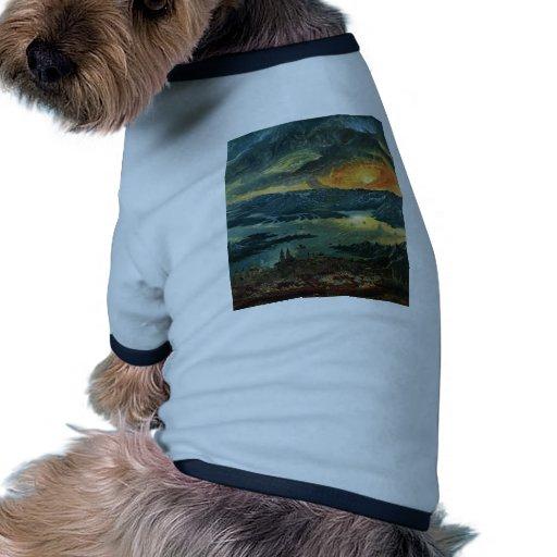 Pintura de la puesta del sol ropa de perros
