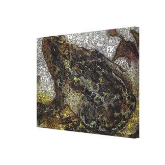 Pintura de la rana del FK-Estilo de Frida Kahlo Lienzo Envuelto Para Galerías