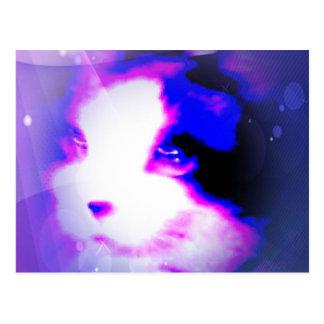 pintura de la raqueta por el gatito de los números postales