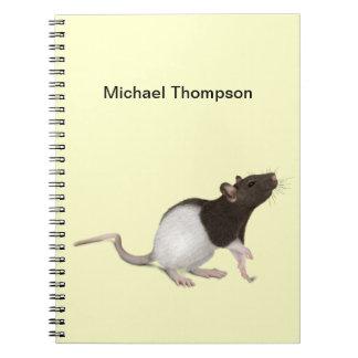 Pintura de la rata del mascota libro de apuntes con espiral