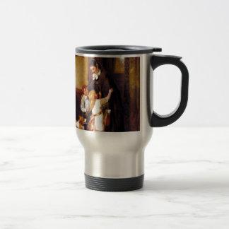 Pintura de la recepción del hogar del perro del co taza de café