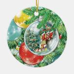 Pintura de la reflexión del árbol de navidad de la adorno de navidad
