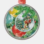 Pintura de la reflexión del árbol de navidad de la ornamento de navidad