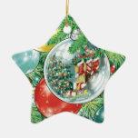 Pintura de la reflexión del árbol de navidad de la adorno para reyes