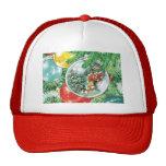 Pintura de la reflexión del árbol de navidad de la gorra