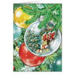 Pintura de la reflexión del árbol de navidad de la tarjeta