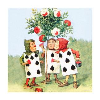 Pintura de la reina de los rosas del corazón en el lona estirada galerias