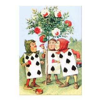 Pintura de la reina de los rosas del corazón en el impresiones en lona