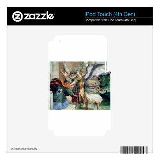 Pintura de la religión del hombre de los ángeles skins para iPod touch 4G