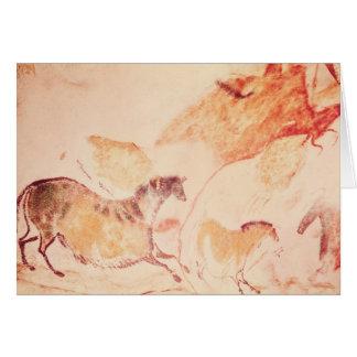 Pintura de la roca de los caballos, c.17000 A.C. Tarjeta De Felicitación