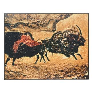 Pintura de la roca del bisonte, c.17000 A.C. Impresión En Madera