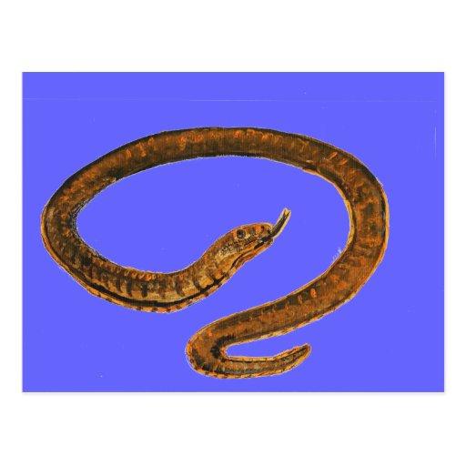 Pintura de la serpiente postal