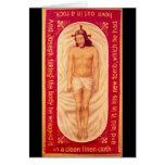 Pintura de la tarjeta en blanco de Cristo
