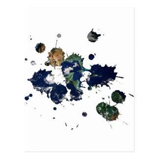 Pintura de la tierra tarjetas postales