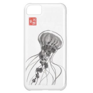 Pintura de la tinta de las medusas del Chrysaora
