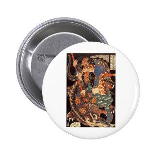Pintura de la tinta de Miyamoto Musashi Pin