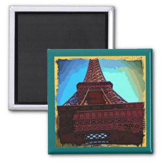 Pintura de la torre Eiffel Imanes