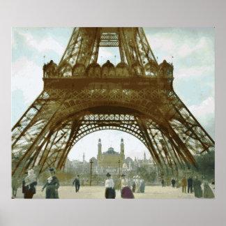 Pintura de la torre Eiffel Póster