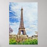 Pintura de la torre Eiffel Posters