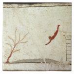 Pintura de la tumba del buceador del sur azulejos