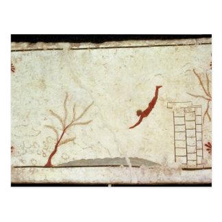 Pintura de la tumba del buceador del sur postal