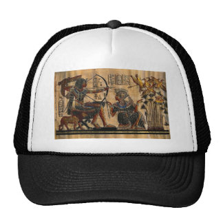 Pintura de la tumba en el papiro gorra
