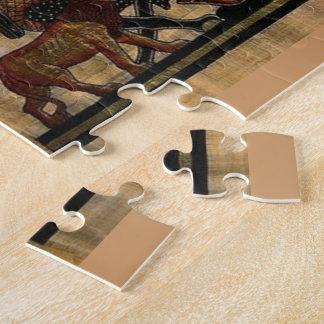 Pintura de la tumba en el papiro puzzle con fotos