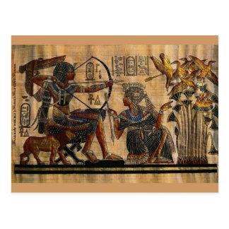 Pintura de la tumba en el papiro tarjetas postales