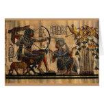 Pintura de la tumba en el papiro tarjetón