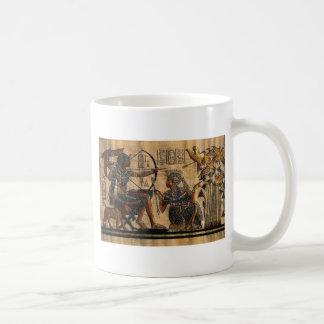Pintura de la tumba en el papiro taza