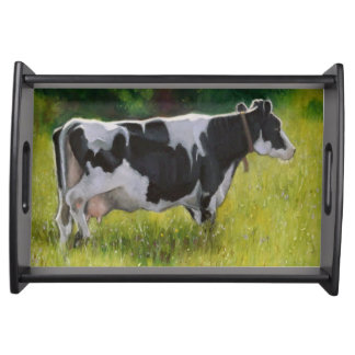 Pintura de la vaca de Holstein: La vaca lechera, e Bandeja