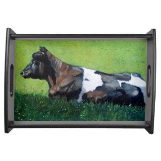 Pintura de la vaca de Holstein: La vaca lechera, e Bandejas