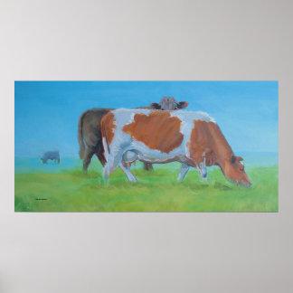 """Pintura de la vaca de """"Isiah"""" Impresiones"""