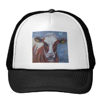 Pintura de la vaca, decoración de la vaca, arte de gorras de camionero