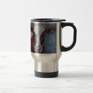 Pintura de la vaca, decoración de la vaca, arte de taza de viaje de acero inoxidable