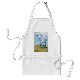 Pintura de la vaca delantal