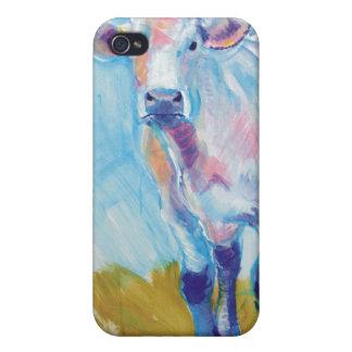 Pintura de la vaca iPhone 4 funda