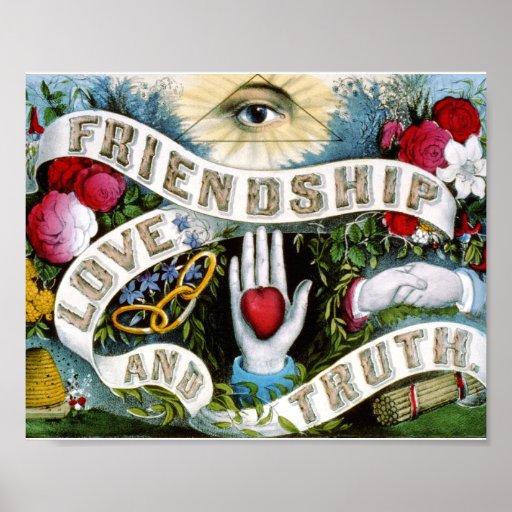 Pintura de la verdad del amor de la amistad impresiones